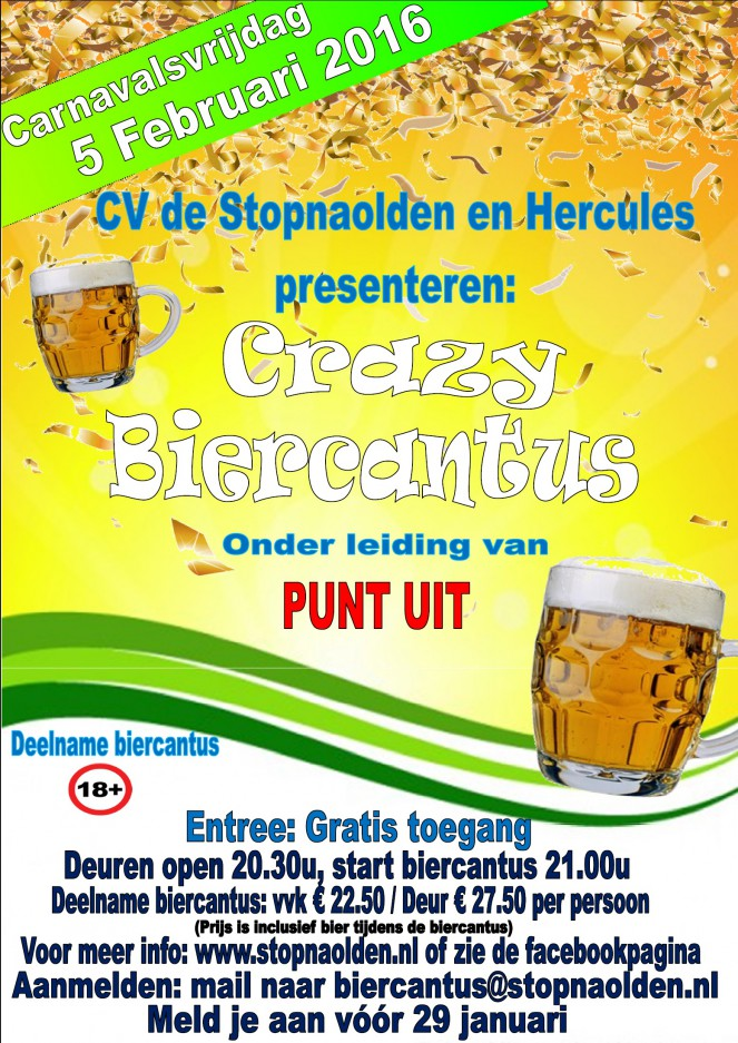 Poster Biercantus carnaval